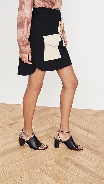 Tibi Bond Stretch Patched Skirt