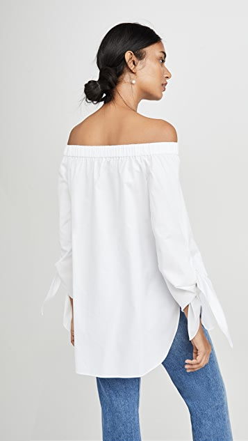 Tibi Off the Shoulder Top