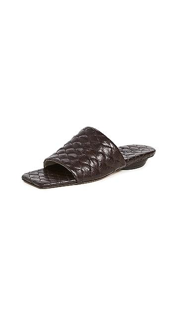 Tibi Han 绗缝凉鞋