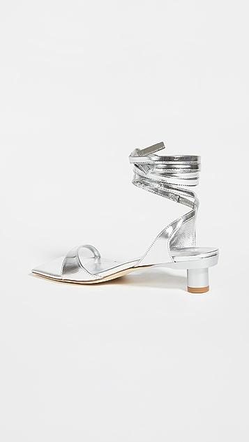 Tibi Jiro 金属色凉鞋