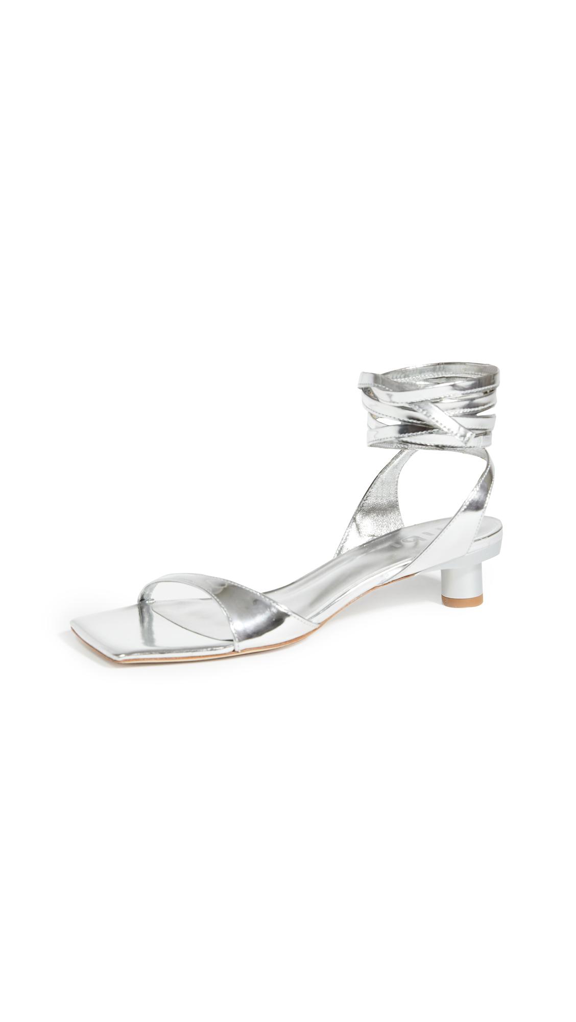 Tibi Jiro Metallic Sandals