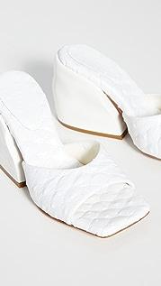 Tibi Kenji Quilted Sandals