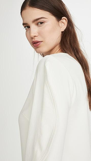 Tibi 折叠袖直筒连衣裙