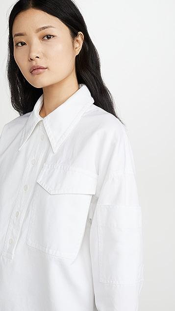 Tibi Свободная рубашка Cocoon