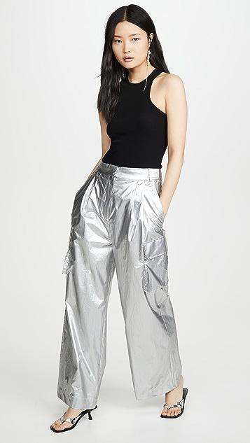Tibi Pleated Cargo Pants