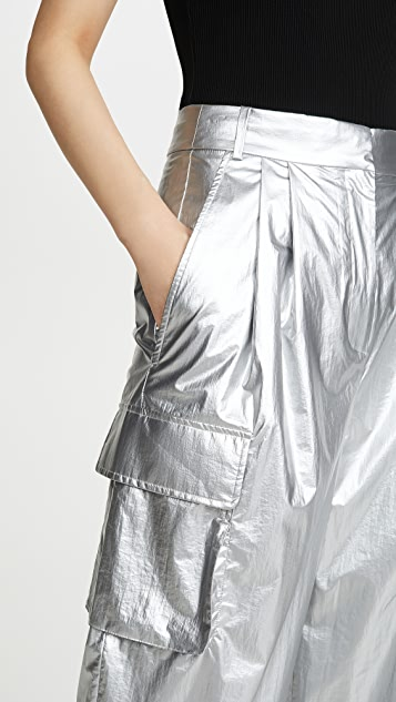 Tibi Плиссированные брюки карго