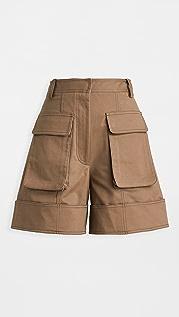 Tibi 翻边工装短裤