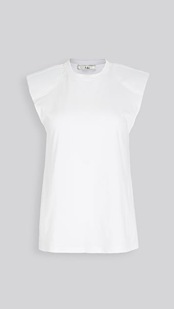 Tibi Sleeveless Top with Shoulder Pads