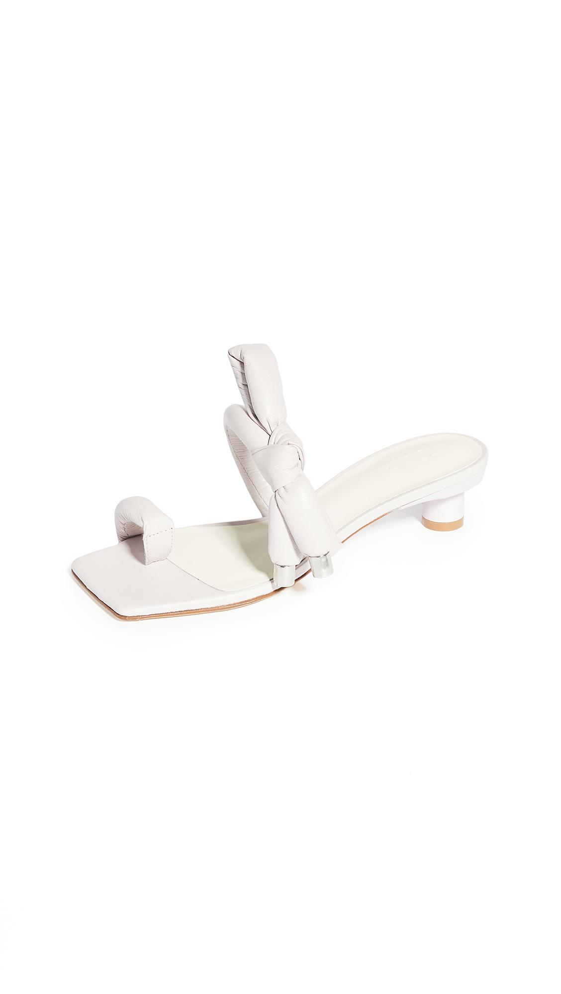 Tibi Emil Toe Ring Square Toe Sandals