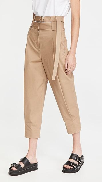 Tibi 双层腰部立体长裤