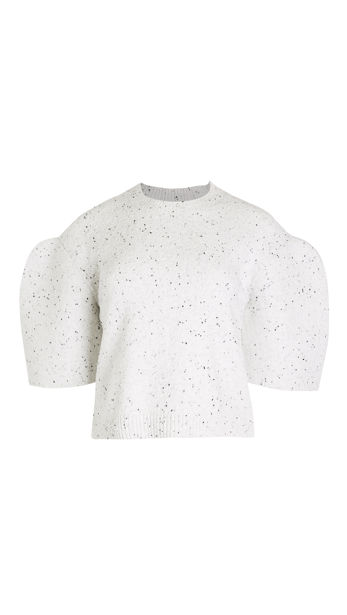 Tibi Sculpted Sleeve Crop Pullover