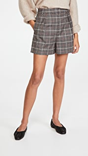 Tibi Gabe Pleated Shorts
