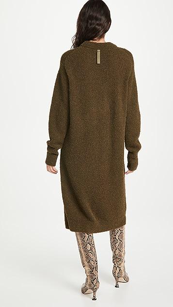 Tibi Slit Cuff Easy Dress
