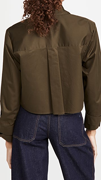 Tibi Cropped Shirt