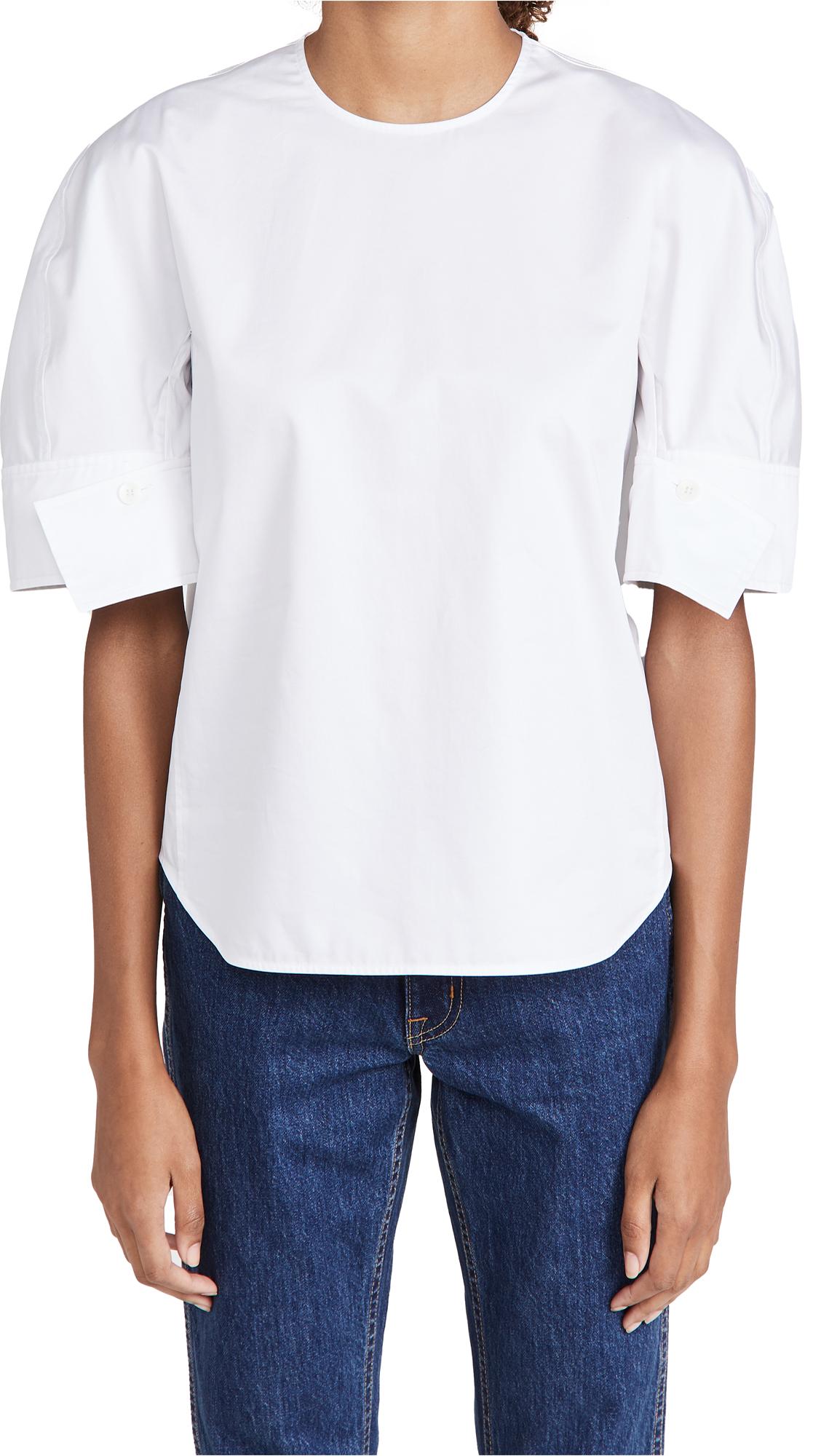 Tibi Reverse Sleeve Top