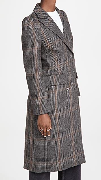 Tibi Double Breasted Sculpted Coat