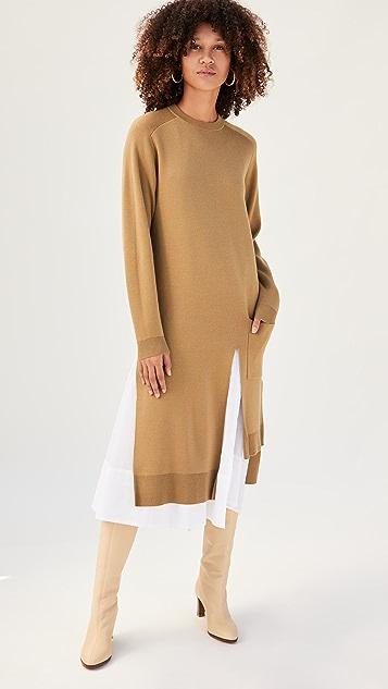 Tibi Layered Long Dickey Sweater Dress