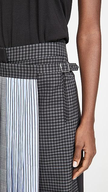 Tibi Pleated Wrap Culottes