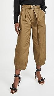 Tibi Stella Ankle Length Sculpted Pants