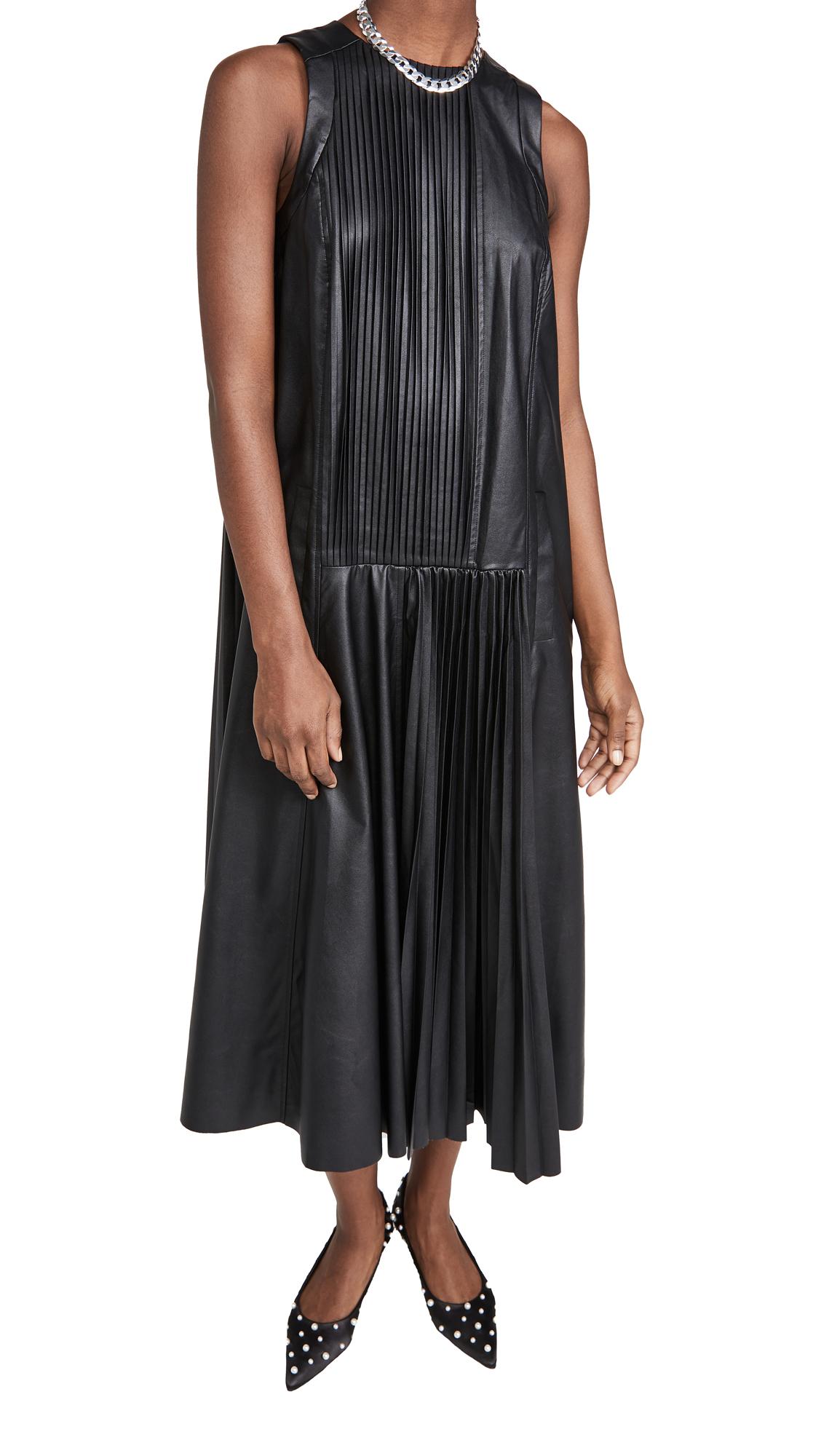 Tibi Faux Leather Dress