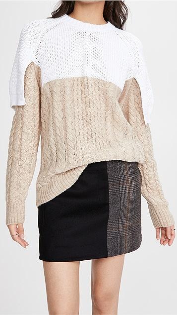 Tibi Shrunken Top Layered Pullover