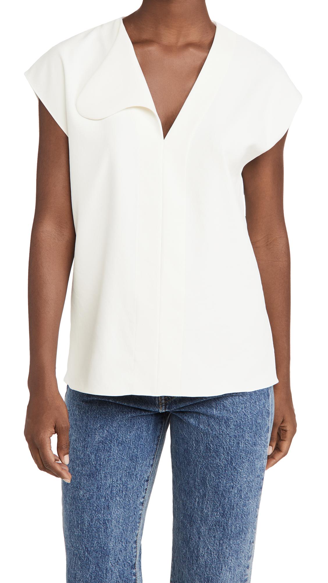 Tibi Asymmetrical Flap Easy Top