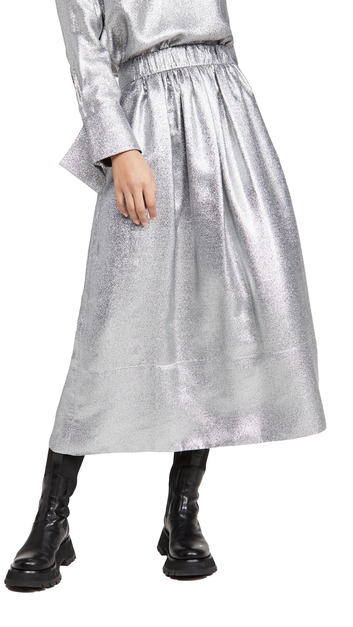 Tibi Smocking Waistband Full Skirt