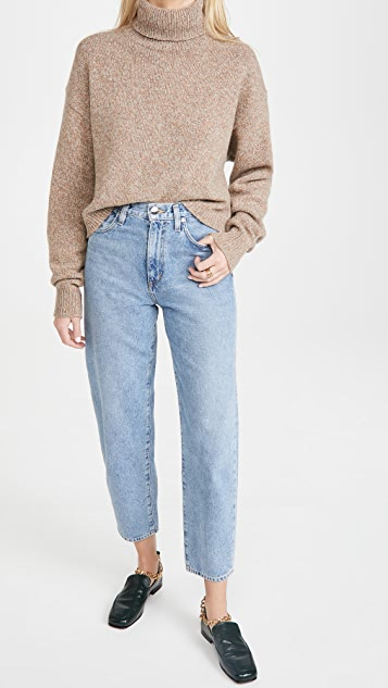 Tibi Turtleneck Cropped Pullover