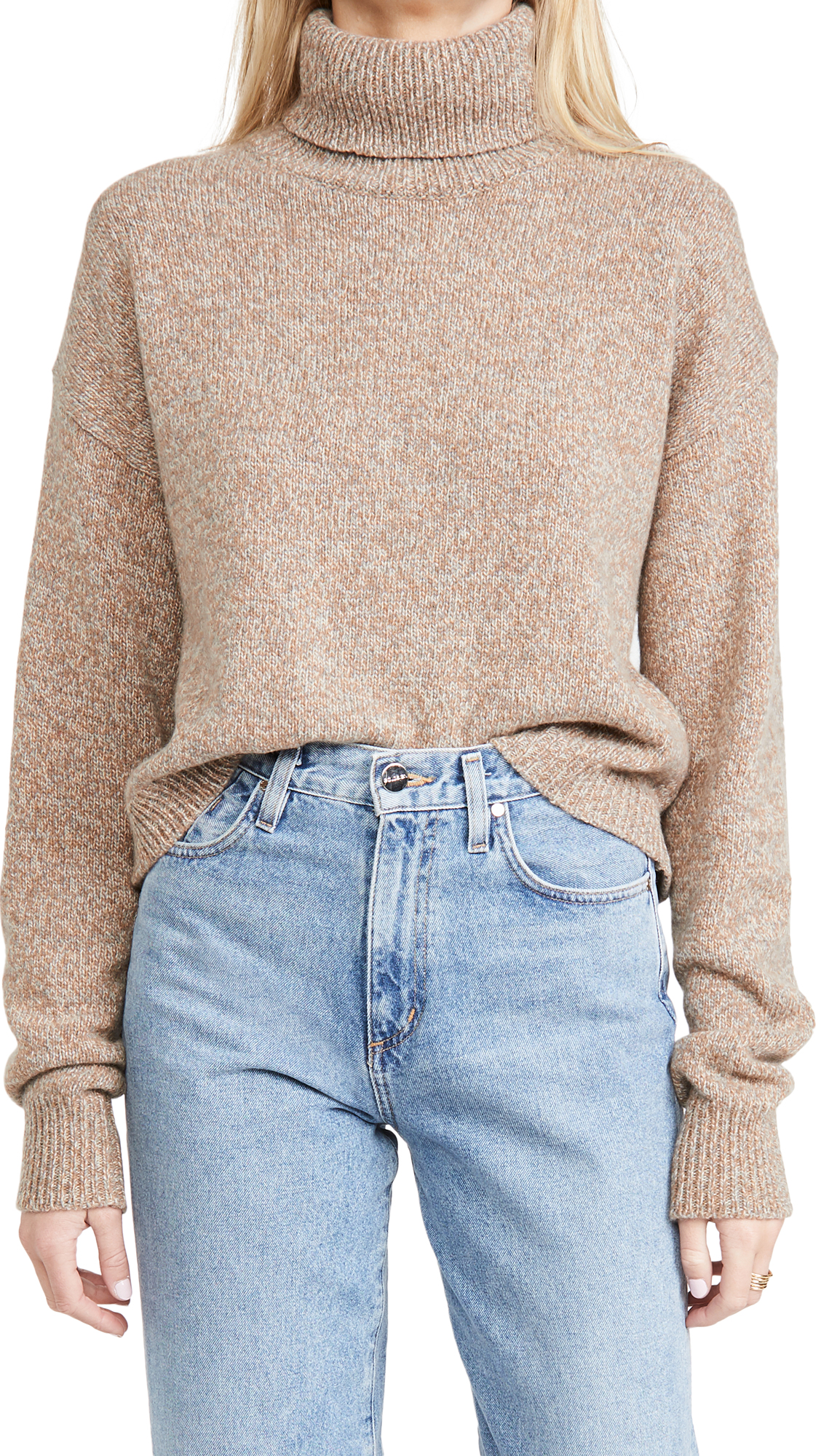 Tibi Turtleneck Cropped Pullover
