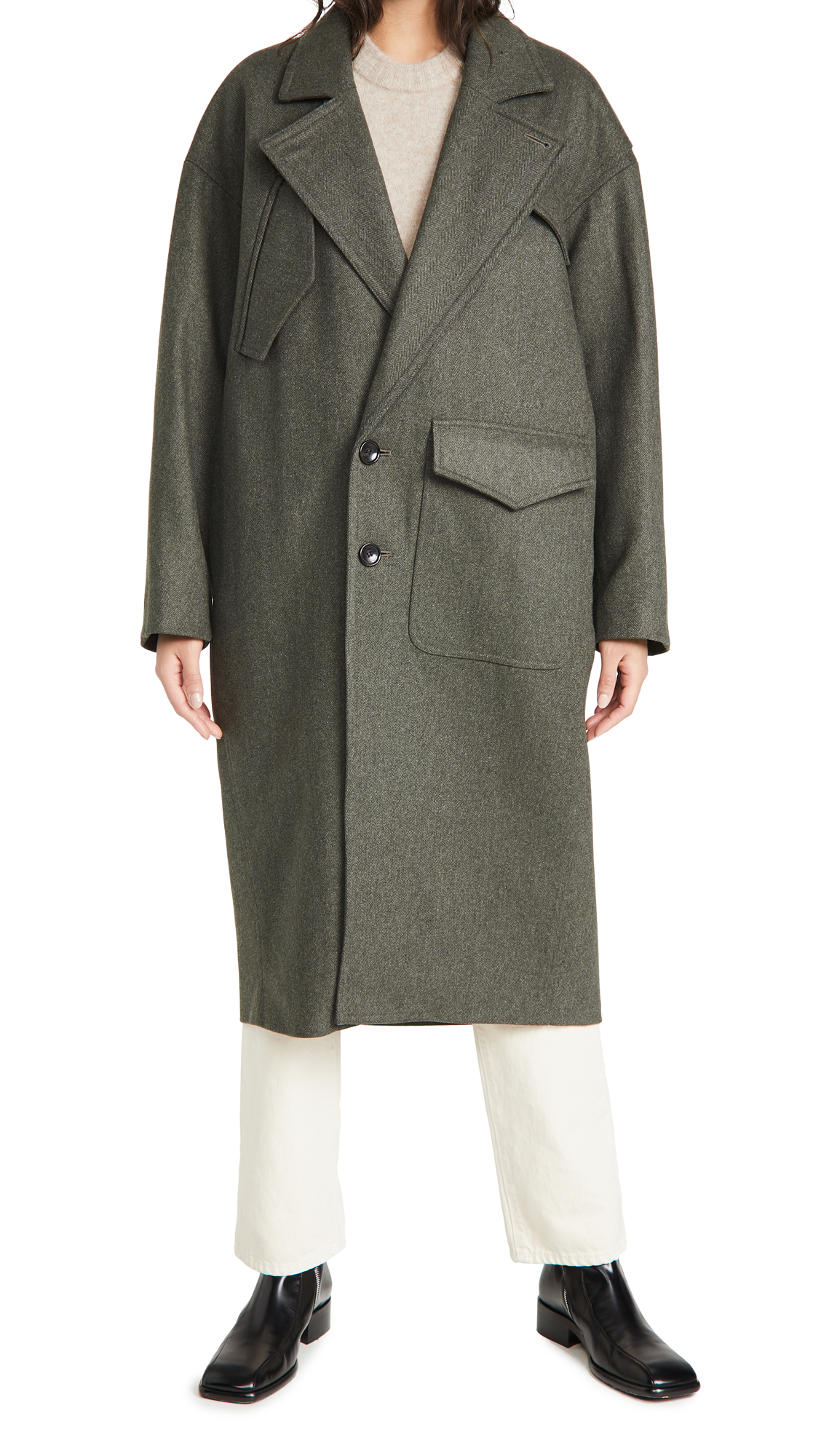 Tibi Cocoon Shape Maxi Coat