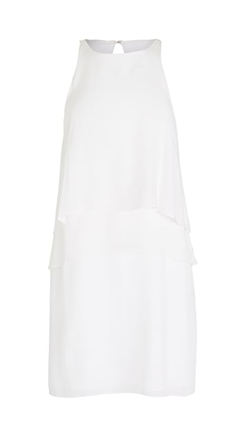 Tibi 纯色真丝分层连衣裙