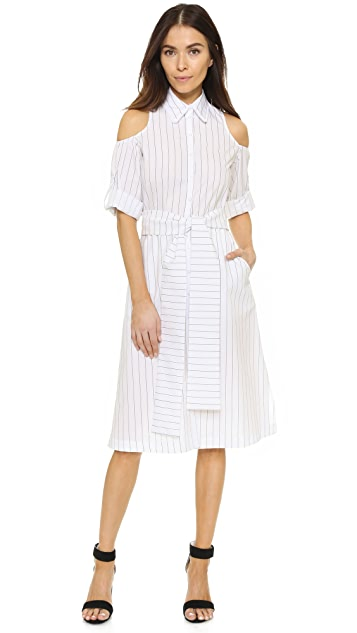 Timo Weiland Ava Cold Shoulder Shirtdress