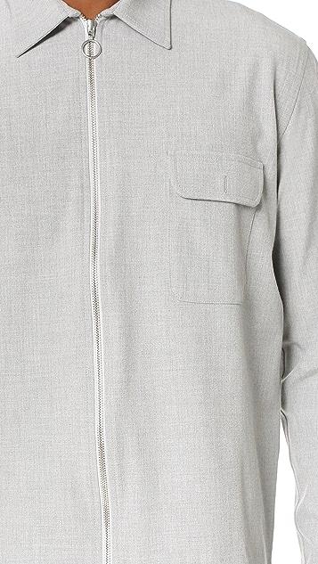 Timo Weiland Drew Zip Front Shirt Jacket