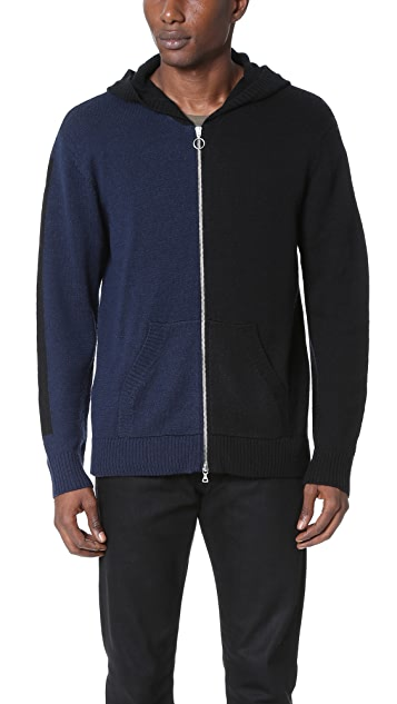 Timo Weiland Lewis Hooded Zip Cardigan