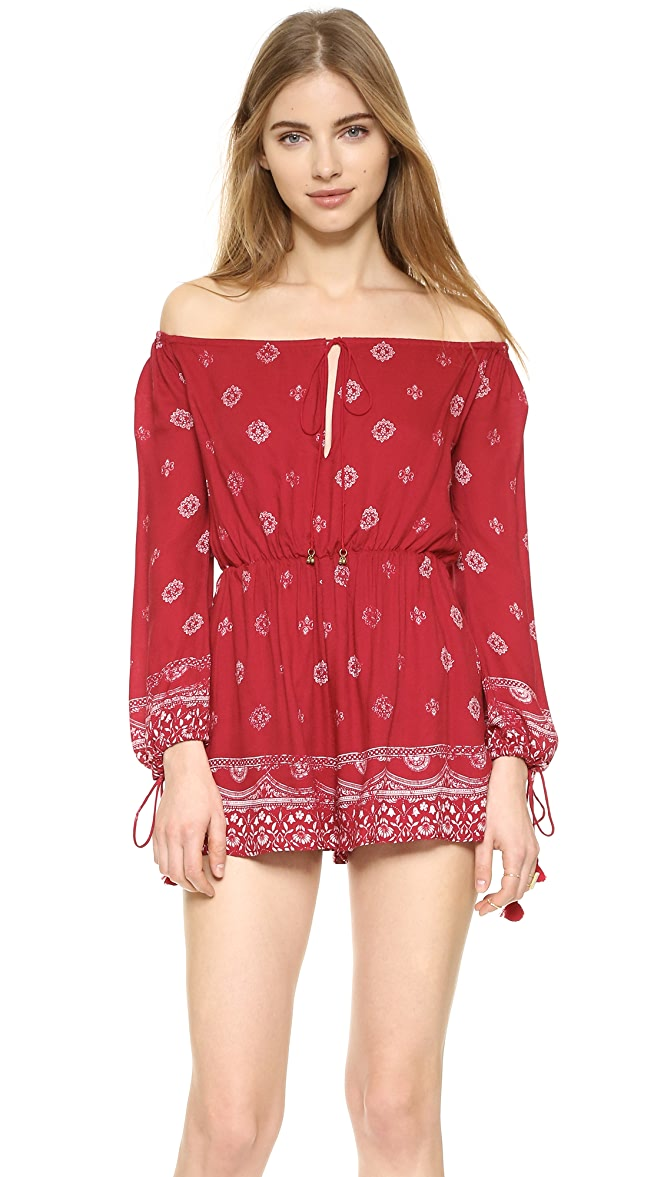 The Jetset Diaries Clothing Fuego Romper Print