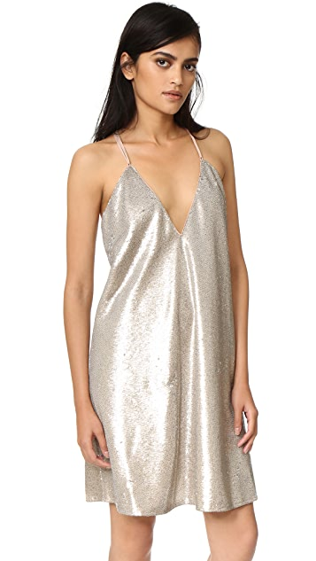 The Jetset Diaries Gold Diamond Mini Dress
