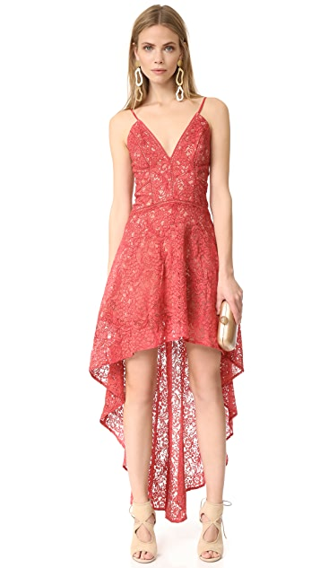 The Jetset Diaries Rava Lace High-Low Dress