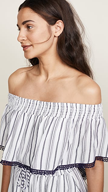 The Jetset Diaries Aries Stripe Mini Dress