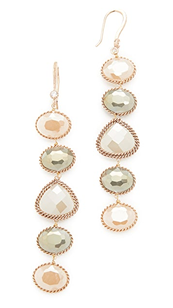 Theia Jewelry Five Tier Earrings