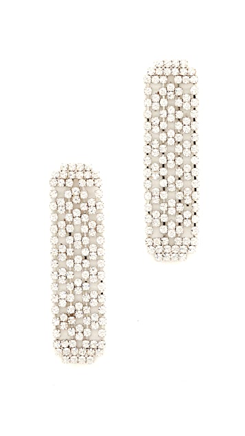 Theia Jewelry Linear Drop CZ Encrusted Earrings