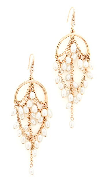 Theia Jewelry Grecian Chandelier Earrings with Pearls