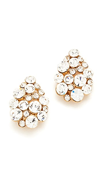 Theia Jewelry Small Teardrop Button Earrings