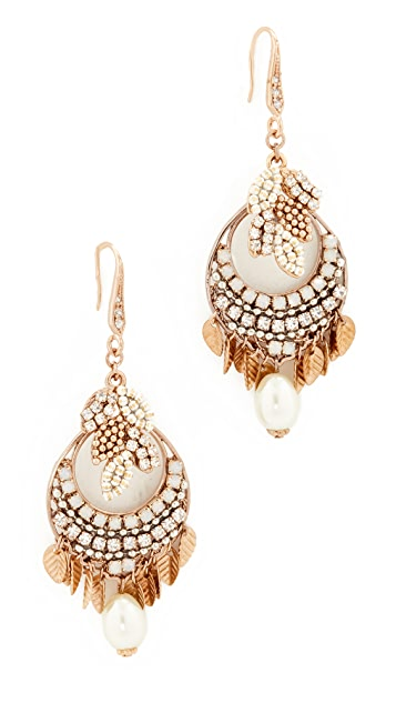 Theia Jewelry Athena Earrings with Crystals and Pearls