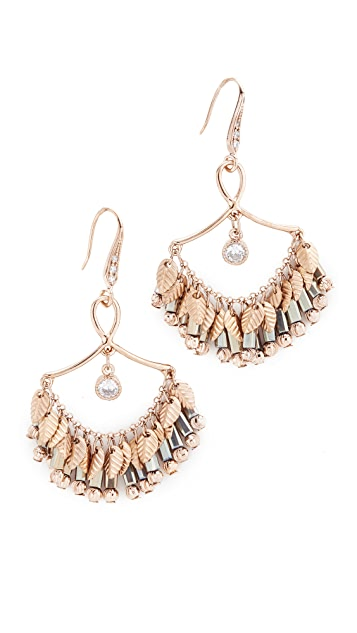 Theia Jewelry Infinity Laurel Leaf Chandelier Earrings