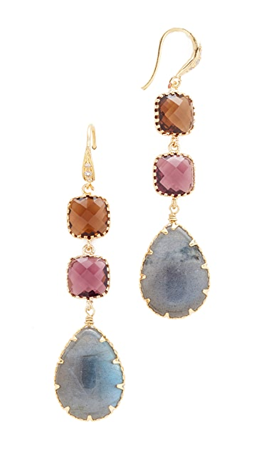 Theia Jewelry Triple Tier Drop Earrings