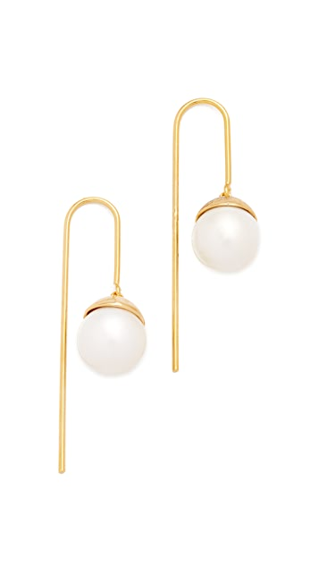 Theia Jewelry Simple Imitation Pearl Drop Earrings