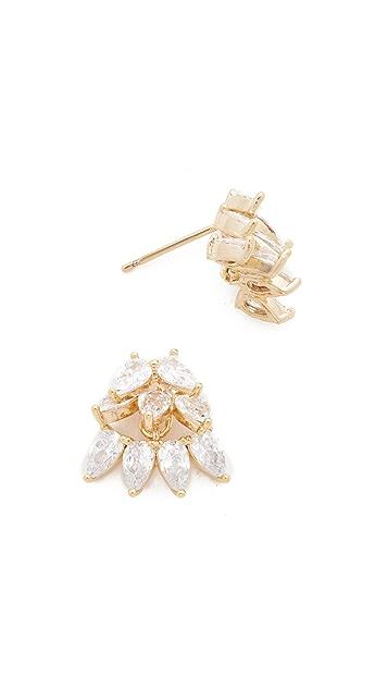 Theia Jewelry Cluster of Teardrops Earrings