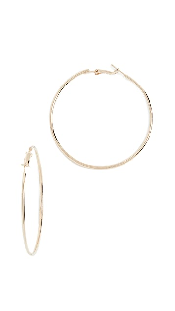 Theia Jewelry Round Hoop Earrings