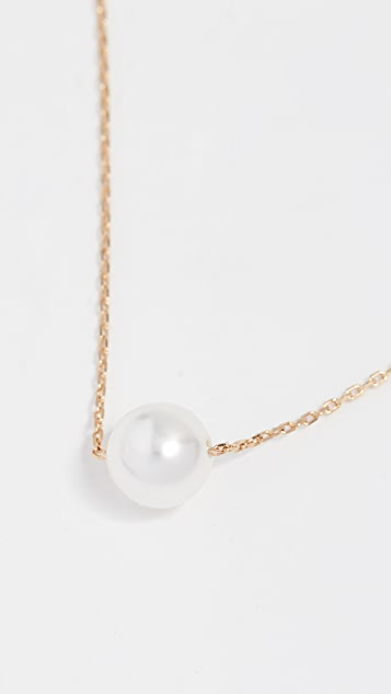 Theia Jewelry Petite Swarovski Imitation Pearl Necklace
