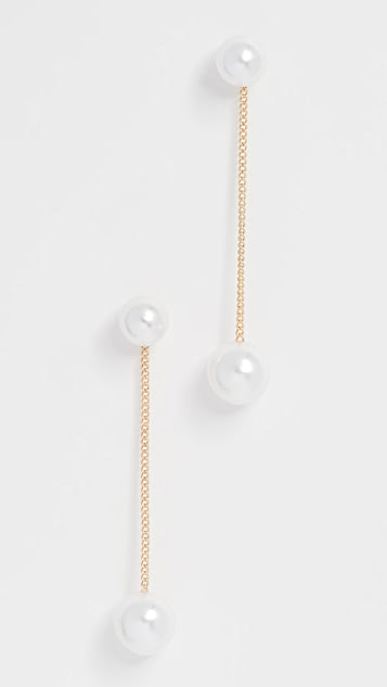 Theia Jewelry Imitation Pearl Stud Earrings JNSHptHwib